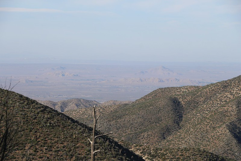 Zoomed-in view of the Mojave Desert and Palmdale from our campsite on the PCT