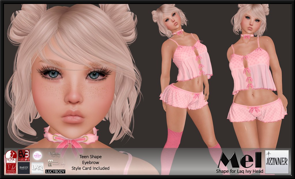 Zinner Shapes & Gallery - Mel Shape for Laq Ivy head
