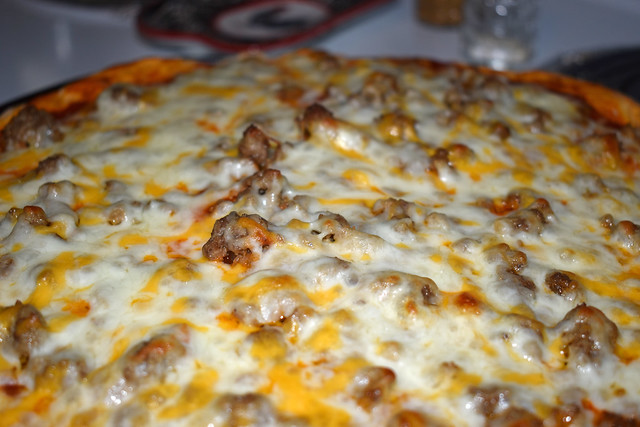 Cheeseburger Pizza For Lunch.