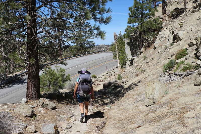 The PCT crosses the Angeles Crest Highway several times north of Cloudburst Summit