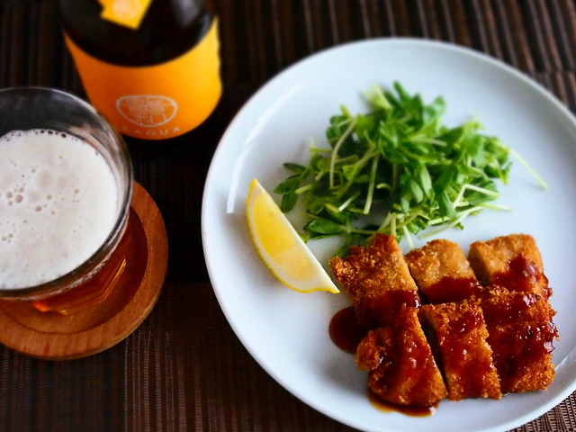 Tonkatsu with Japanese Beer