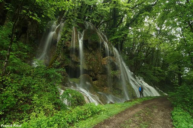 Cascade de l'Adhuy en crue - Amondans