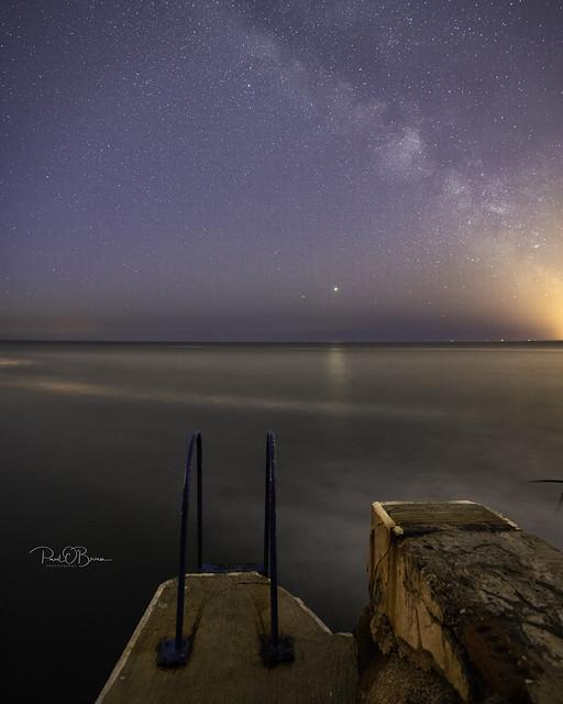 Milky Way, Jupiter and Saturn rising (Explored on May 27th 2020)