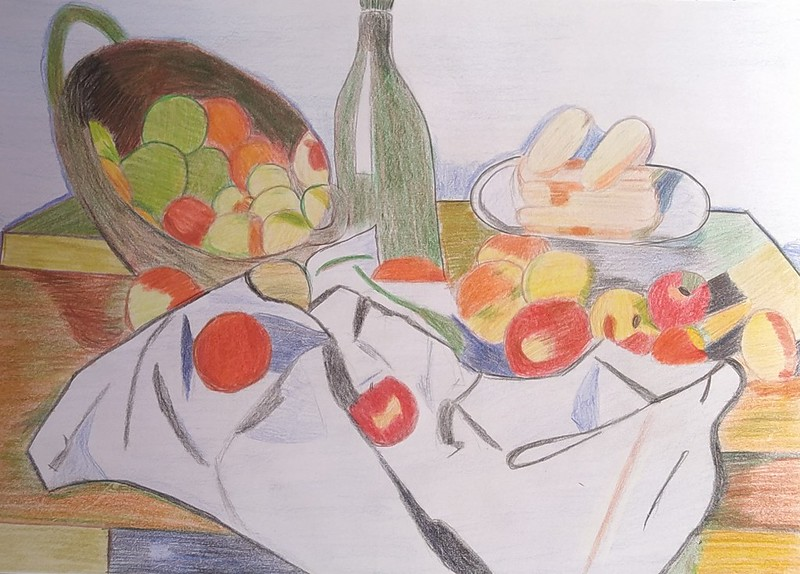 Pol Muñoz ( cesto de manzanas )