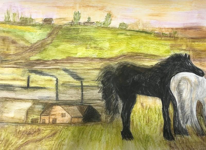 Hugo Jurado ( Caballos en un prado )