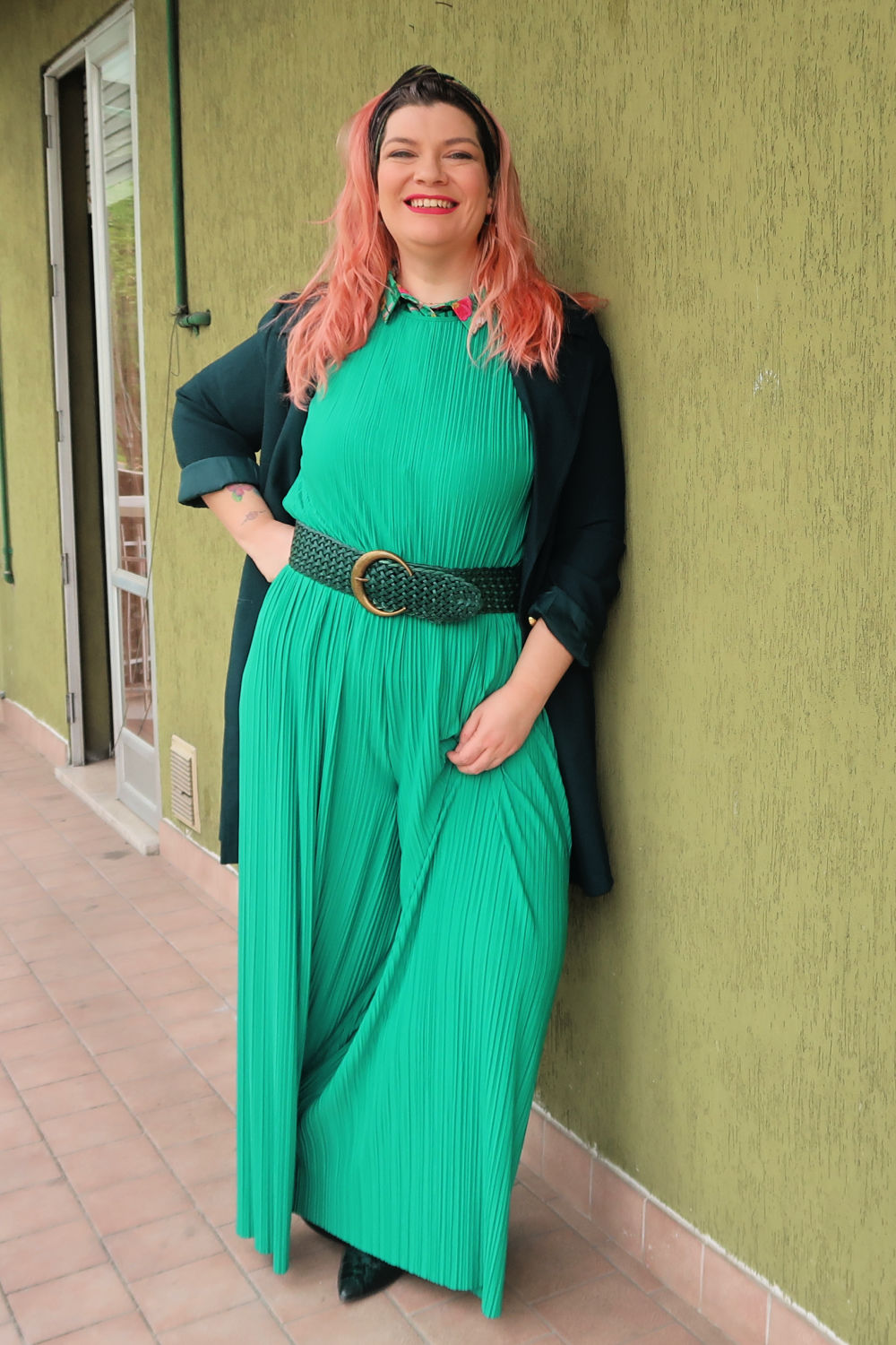 Verde, outfit plus size, curvycolorchallenge , come indossarlo (5)