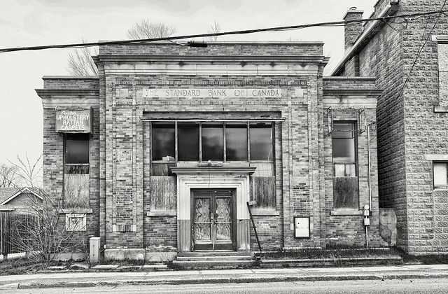 The old Standard Bank of Canada building, Brechin, Ontario
