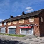 Closed shops on the Larches estate at Preston