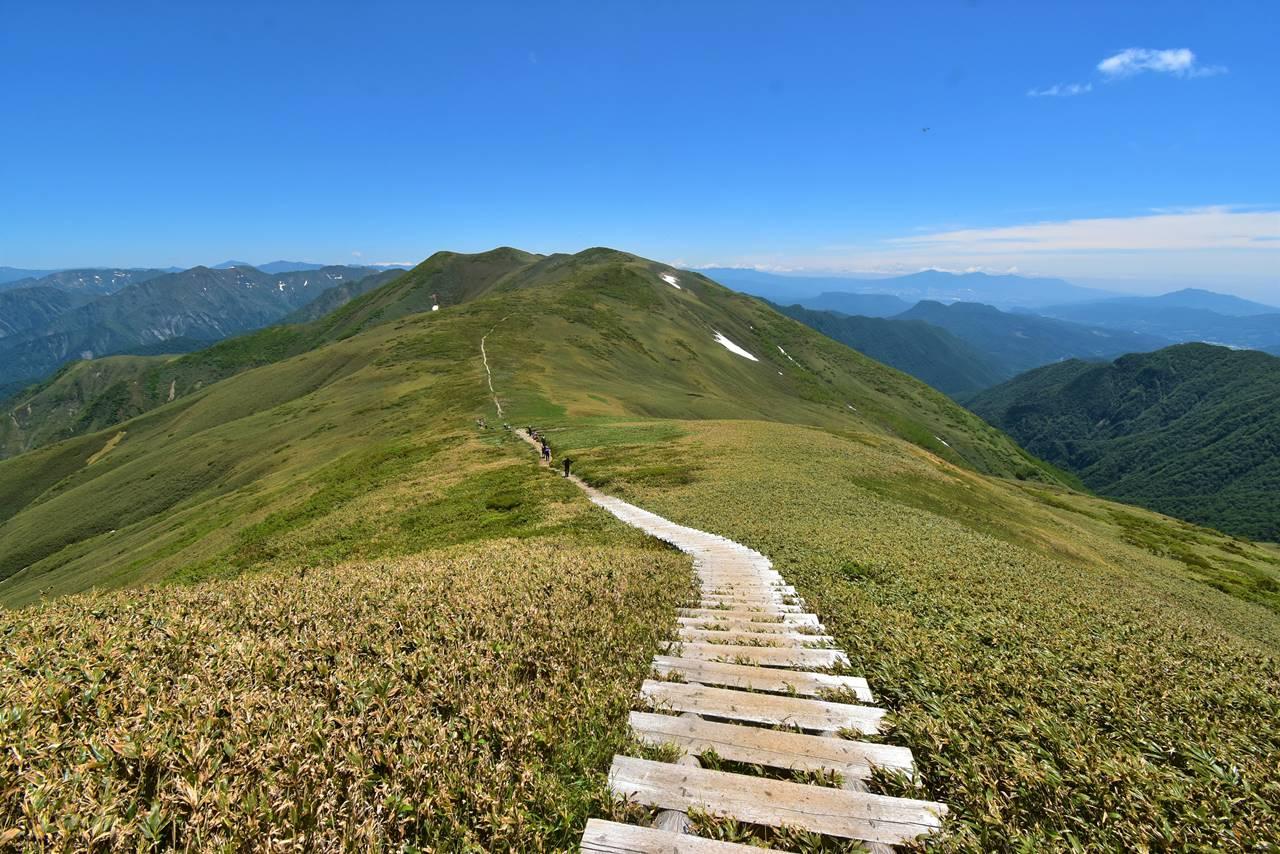 平標山~仙ノ倉山の稜線