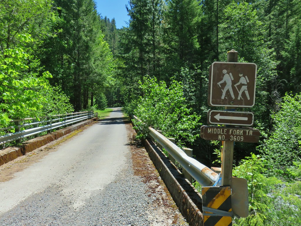 Sign for the Middle Fork Trail