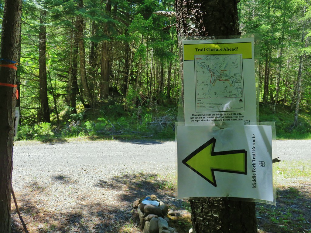 Signage for the Middle Fork Trail