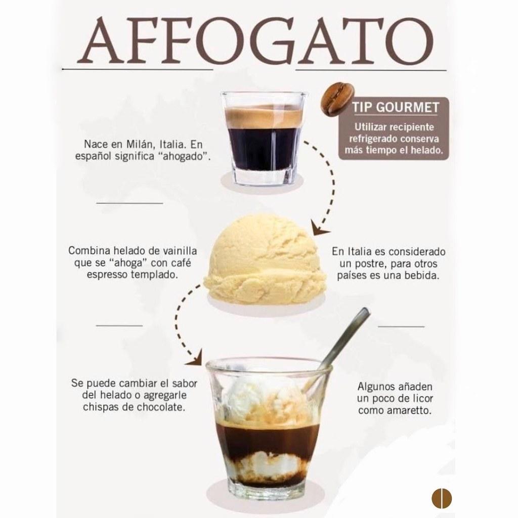Infografía- Cómo hacer un café affogato