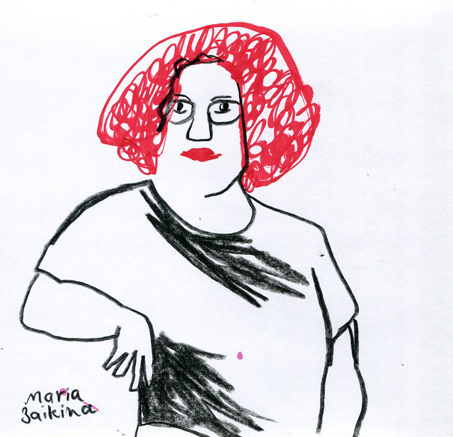 Maria Zaikina, Woman with red hair, 2020