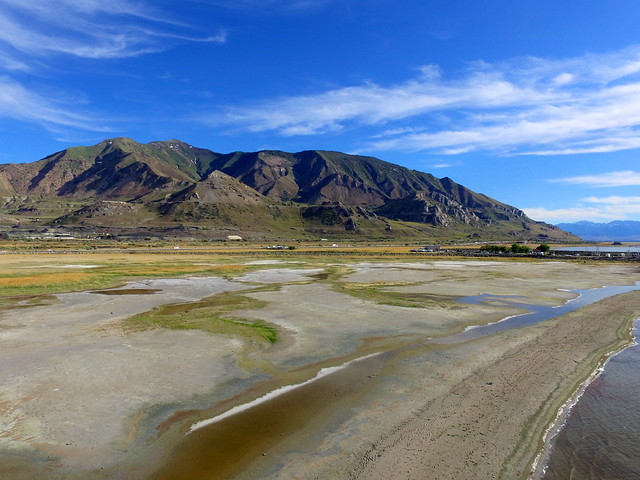 The Oquirrh Mountains and terraces of ancient Lake Bonneville