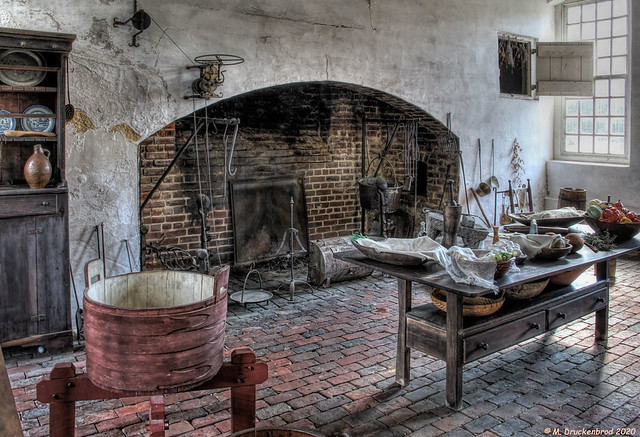 Kitchen inside the Great House at Stratford Hall Plantation