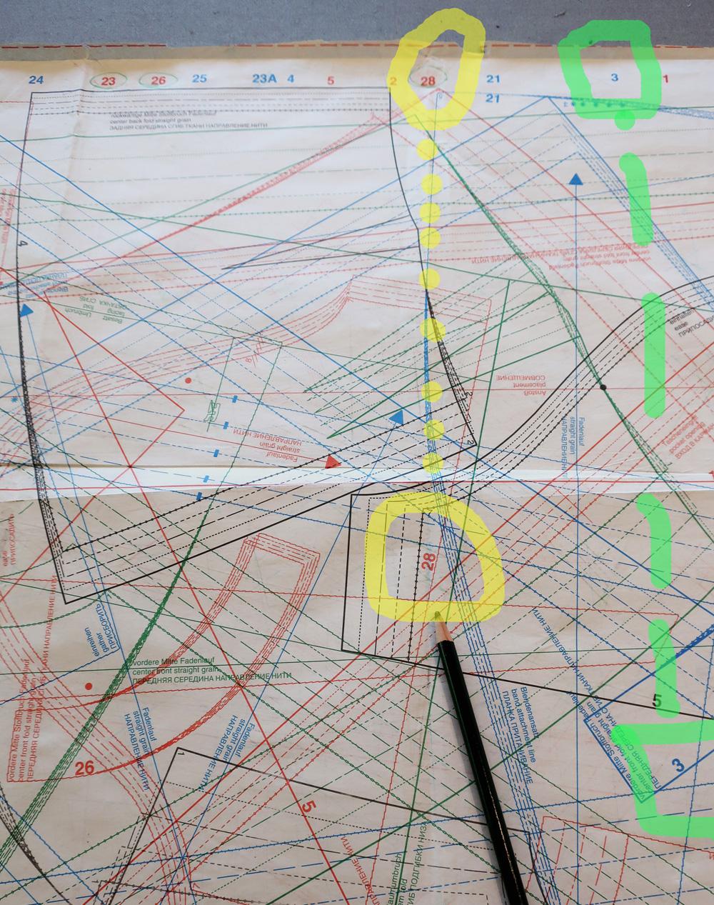 Burda sheet finding piece numbers