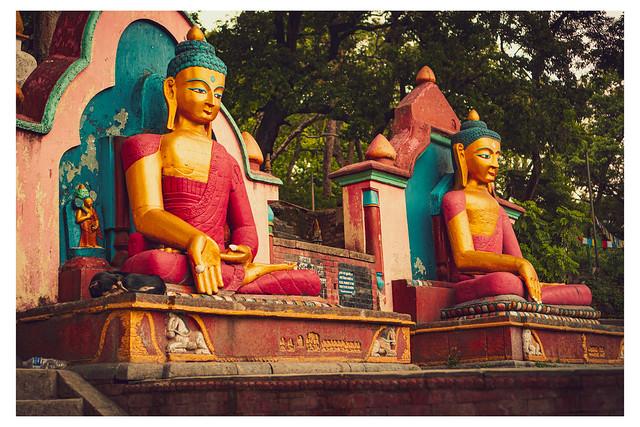 Painted Statues - Swayambhunath, Kathmandu - Nepal_Web 1-E_Scaled