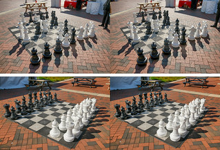Large chess set of the 2019 Baltimore Book Festival.