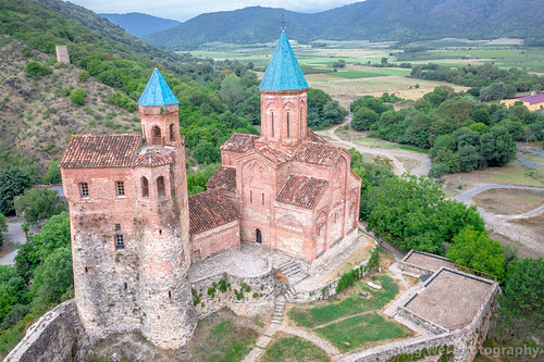 ancient traveldestinations georgiacountry spirituality church landmark colorimage placeofworship religious travel remotelocation aerialview christianity monastery georgianculture caucasus architecture horizontal outdoors tourism asia dronepointofview kvareli kakheti georgia