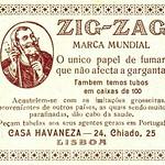 Tue, 2020-05-26 18:41 - Smoking paper from the Zig Zag brand.  in: Semana portuguesa : revista de informação e crítica, Ano 1, n.º 1, 9 de Janeiro de 1933.  magazine link: hemerotecadigital.cm-lisboa.pt/Periodicos/SemanaPortugues...  page link: hemerotecadigital.cm-lisboa.pt/Periodicos/SemanaPortugues...