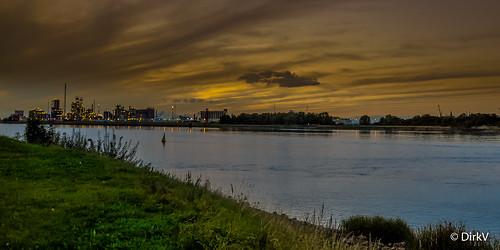 harbour antwerp belgium river schelde sunset dirkv100 antwerpen harbor port harborantwerp