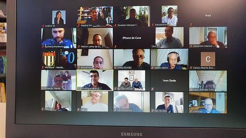 Reunião virtual da SEE com  as Federações