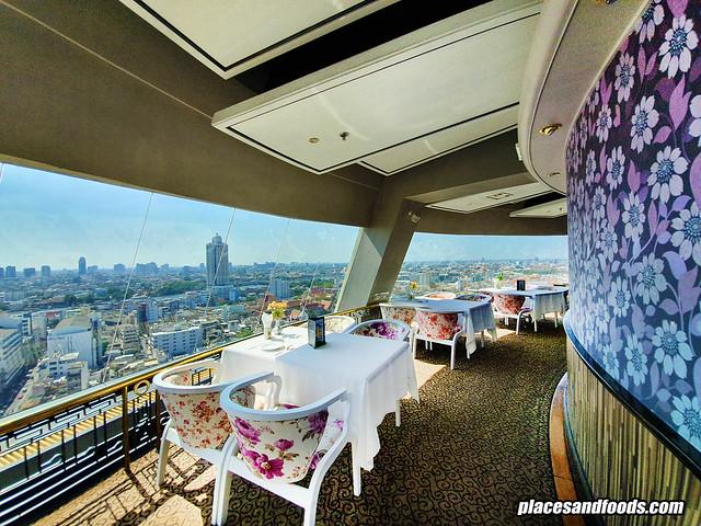 bangkok revolving restaurant wide shot