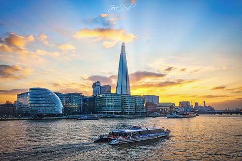 londres uk town hall london támesis shardlondonbridge river rio sunset atardecer landscape paisaje