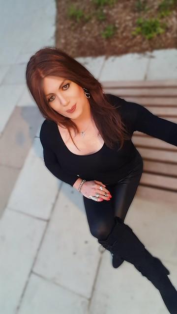 Sitting in black