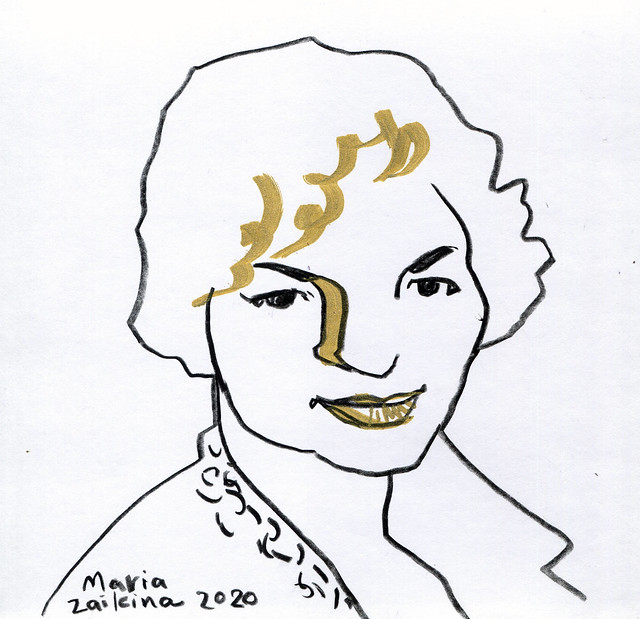 Maria Zaikina, Head of a girl, 2020