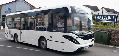 YX19 ONL 'Somerset Passenger Solutions' No. D602. Alexander Dennis Ltd. (ADL) E20D / 'ADL' Enviro 200MMC on Dennis Basford's railsroadsrunways.blogspot.co.uk'