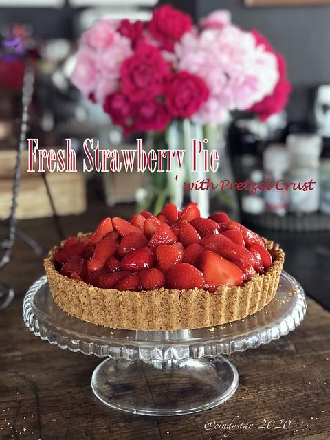 fresh strawberry pie pretzel crust