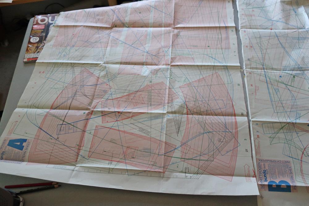 Burda pattern sheet