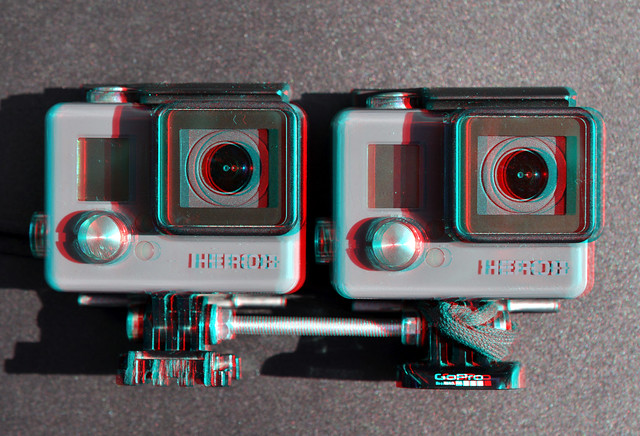 GoPro Stereo-rig 73mm basis