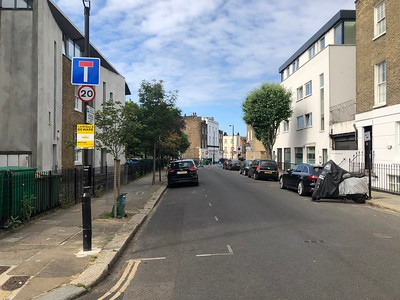 View on Wilmot Place across Rochester Place