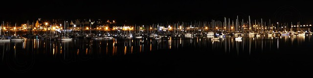Le Port de Plaisance des Sablons, by night   . . . ( In Explore ).