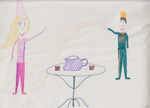 An illustration for The Adventures of Princess Emily and Prince Dennis, written by New Lodge Youth Centre After Schools Group