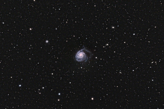 M 101, Pinwheel Galaxy, Uma