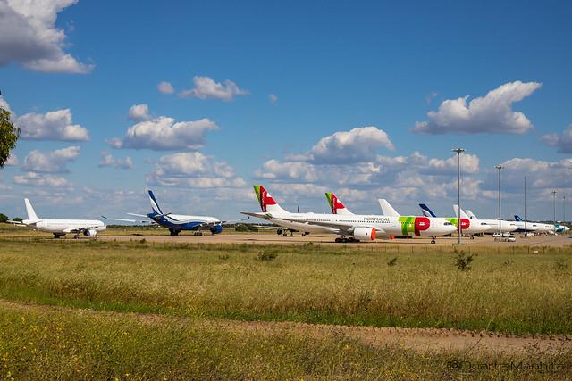 Beja Airport during quarantine