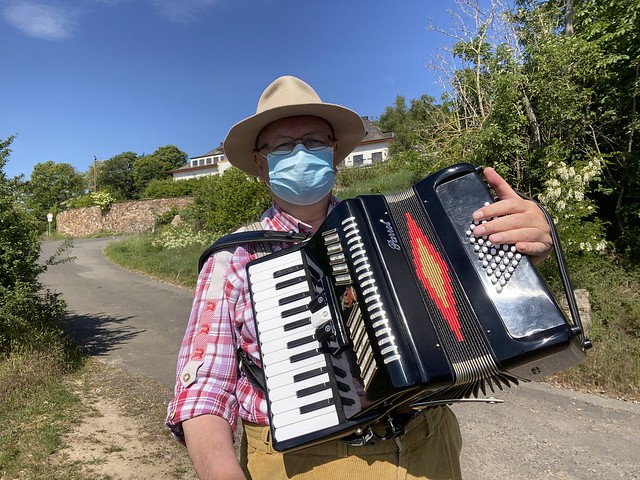 Accordion Music in Ruedesheim on the River Rhine, Germany