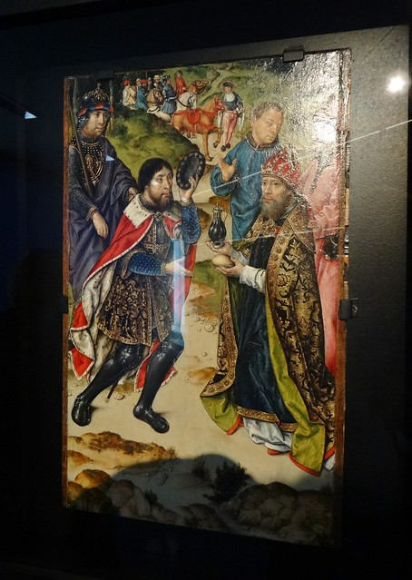 ca. 1520 - 'Meeting of Abraham and Melchizedek' (Albrecht (Albert) Bouts), Leuven, Collection Bentinck-Thyssen, Luxembourg, M - Museum Leuven, province of Flemish Brabant, Belgium