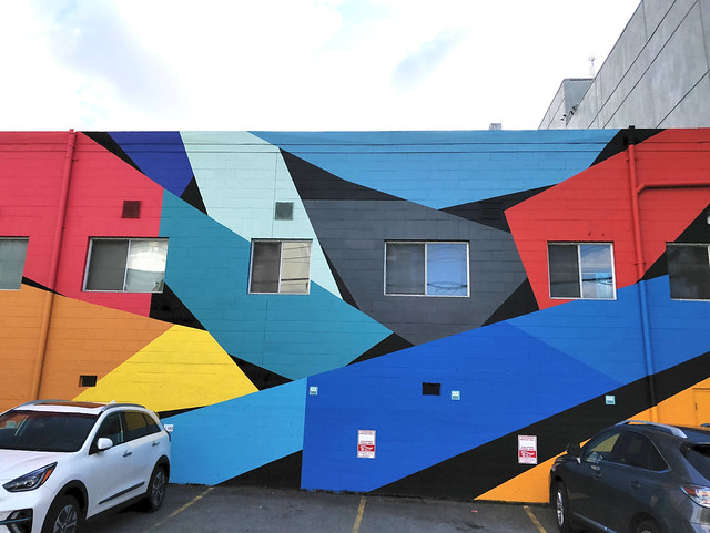 Abstract mural by Charlie Edmiston