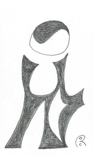 drawing on fiberboard 2 ( original  70-80's)