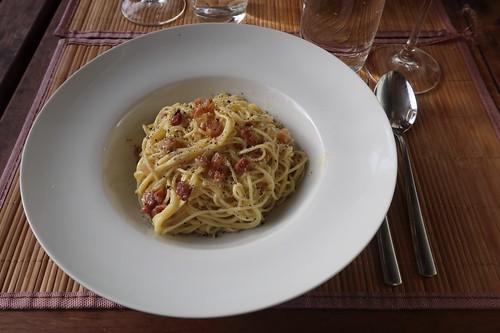 Spaghetti alla carbonara (mein Teller)