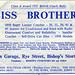 Advert for Biss Bros, Bishops Stortford, 1961