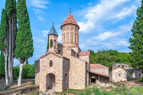 ancient traveldestinations georgiacountry spirituality church landmark colorimage placeofworship religious travel christianity monastery georgianculture caucasus architecture remotelocation horizontal tourism asia outdoors telavi kakheti georgia
