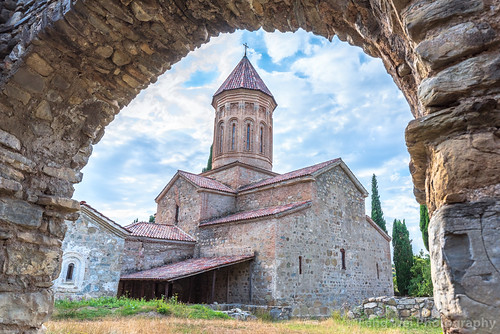 ancient traveldestinations georgiacountry asia church landmark colorimage placeofworship religious spirituality travel monastery georgianculture caucasus outdoors remotelocation architecture tourism horizontal christianity telavi kakheti georgia