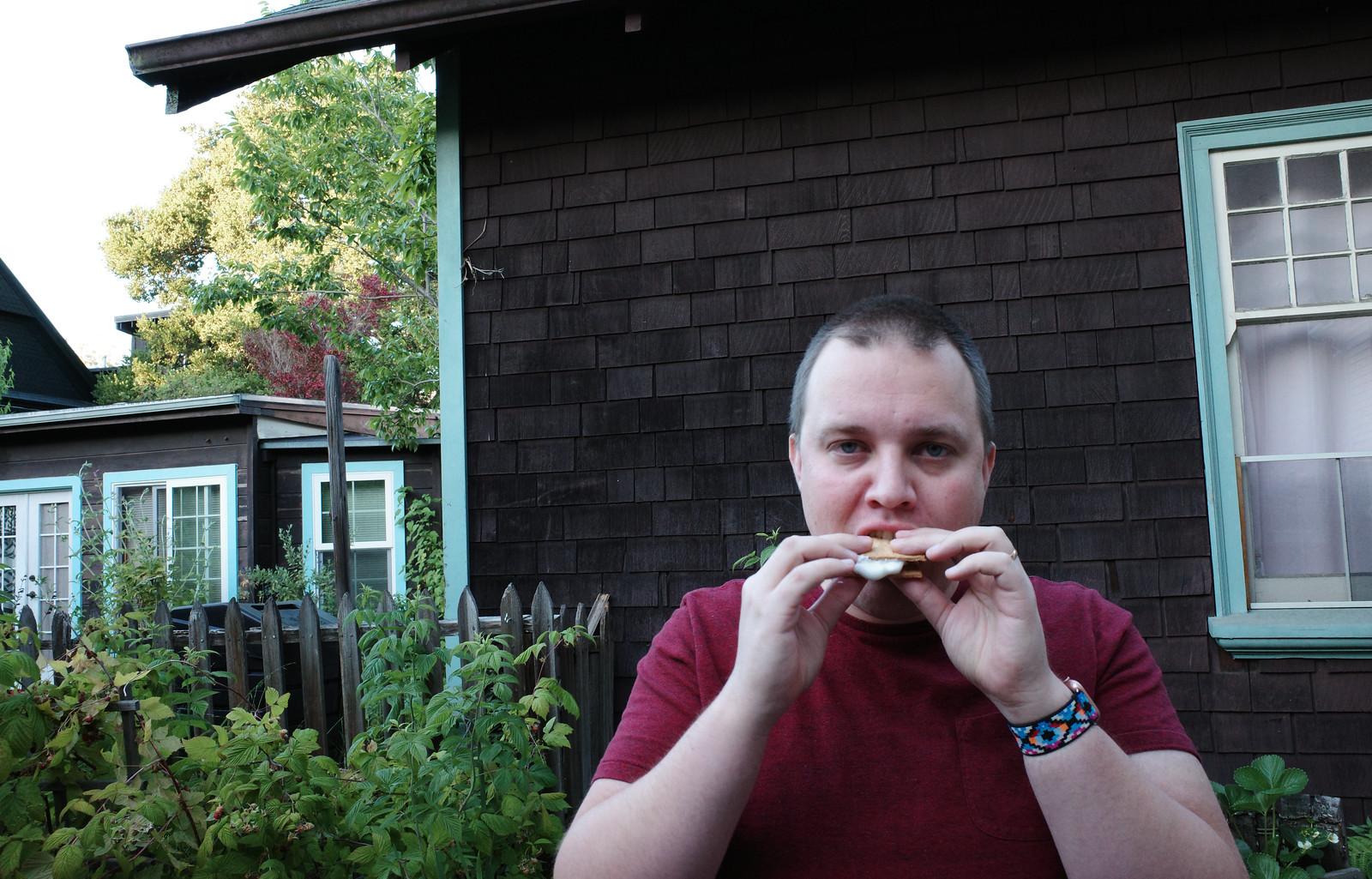 me eating a smore