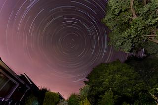 Housebound star trail
