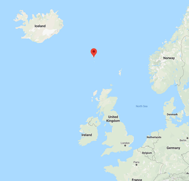Location of the Faroe Islands